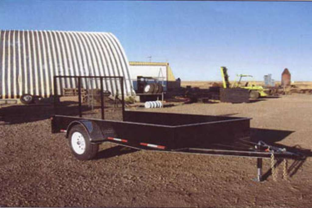 Oasis utility trailer with 4 ft end gate