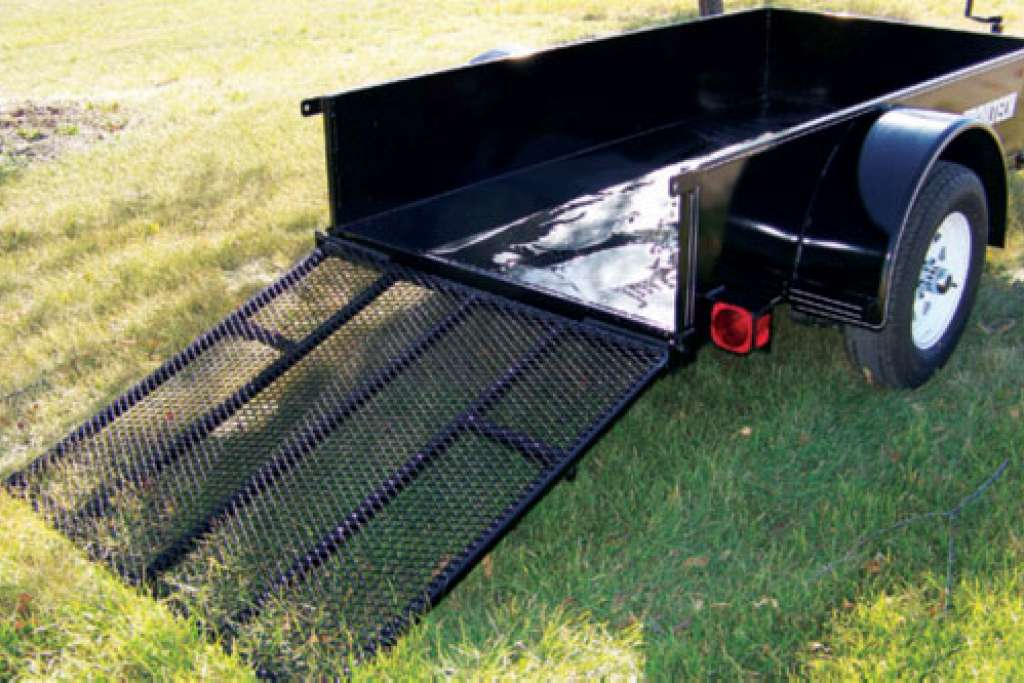 Trailtech Utility Trailer Gate Down