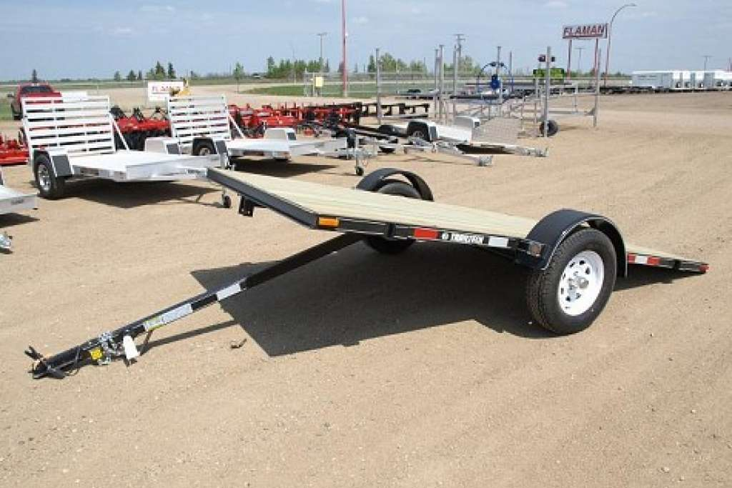 Trailtech Flat Deck Single Axle Tilt Trailer Loading