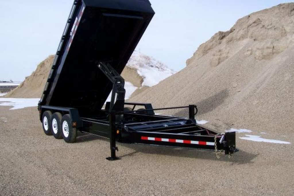 Trailtech Lowboy triple axle dump trailer